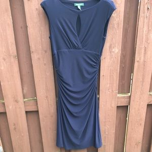 Lauren Ralph Lauren Keyhole Jersey Sheath Dress 8
